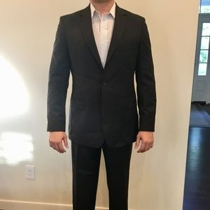 Authentic Hugo Boss Suit Grey Pinstriped